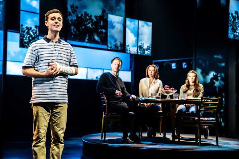 3- Stephen Christopher Anthony as 'Evan Hansen' and the North American touring company of DEAR EVAN HANSEN. Photo by Matthew Murphy, 2019
