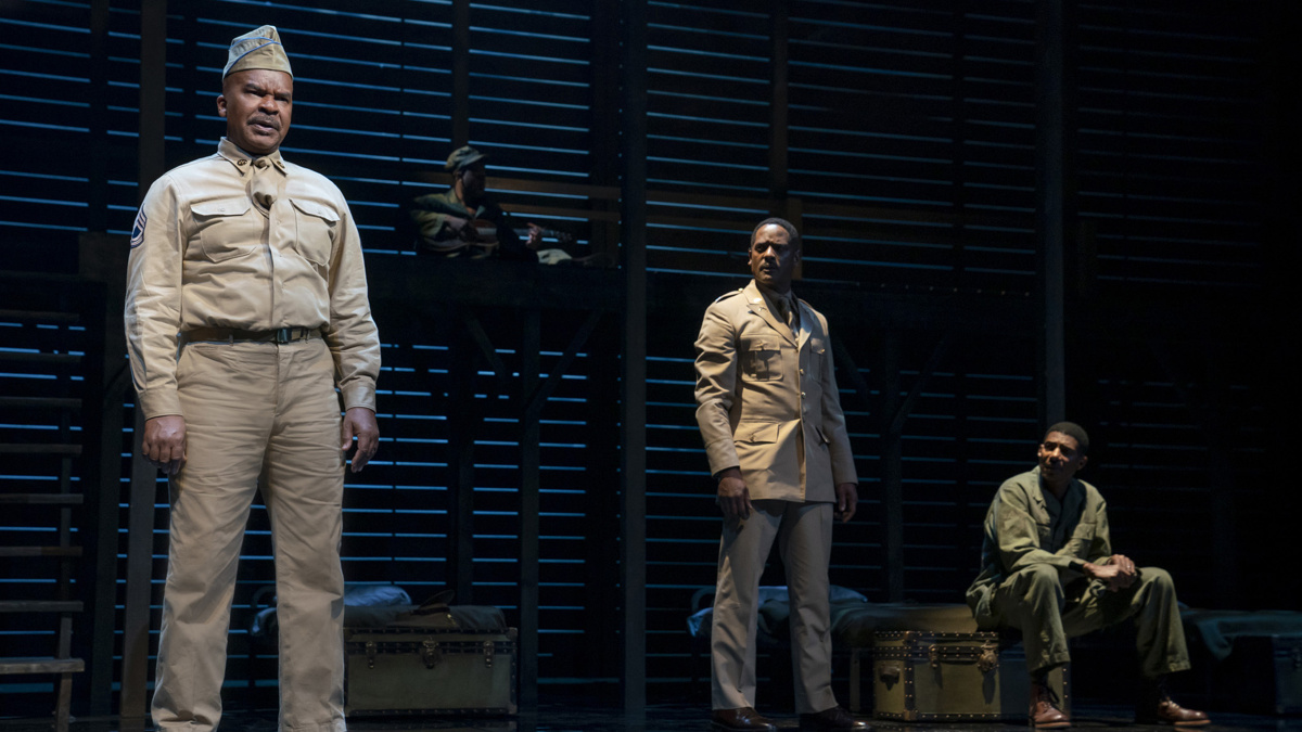 Show Photos - A Soldier's Play - 1/20 - David Alan Grier - Blair Underwood - Billy Eugene Jones - Photo: Joan Marcus