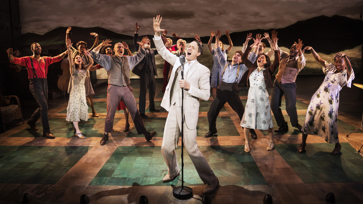 Todd Almond and the Cast of Girl From The North Country on Broadway - photo by Matthew Murphy - 1233